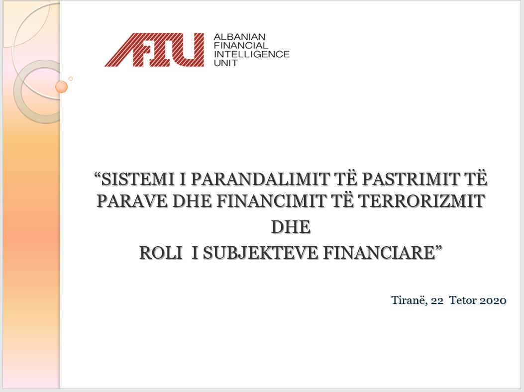 Trajnim për parandalimin e pastrimit të parave dhe financimin e terrorizmit në bashkëpunim me IEKA
